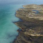 Aerial image of herring spawn